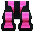 Front and Rear car seat covers Fits Jeep wrangler YJ TJ LJ 1985 2006 select