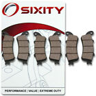 Front + Rear Ceramic Brake Pads 2001-2005 Honda GL1800A Gold Wing ABS Set zw