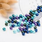 100pc Ocean Pearlized Glass Pearl Beads Mix Color For Jewelry Making