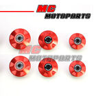 Red CNC Billet Frame Plugs Kit For Ducati 749 / S / R Dark All Year 03 04-06