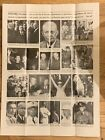 POSTER & 5 Vintage PRESIDENT Dwight EISENHOWER IKE Press PHOTO & NEGATIVE Lot