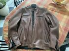 Rev It Revit Gibson Leather Motorcycle Riding Jacket zero harley real