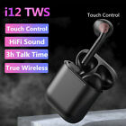 i12 TWS Bluetooth 50 Earbuds Wireless Headphone Earphones For iphone Android US