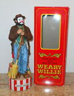MCCORMICK WEARY WILLIE EMMETT KELLY CLOWN REGAL MUSICAL DECANTER BOTTLE WITH BOX