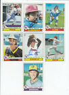 1979 Topps SIGNED AUTOGRAPHED # 95 Robin Yount Brewers Set Break 1 Card Only