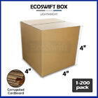 1-200 4x4x4 Ecoswift Cardboard Packing Mailing Shipping Corrugated Box Cartons