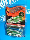 Hot Wheels Red Line Club Exclusive 2013 Holiday Drag Dairy Green w Real Riders