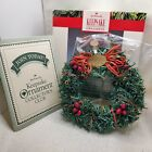 Hallmark Vintage Keepsake Ornament 1990 Little Frosty Friends Memory Wreath