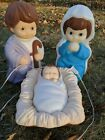 Empire Precious Moments Kids Nativity Blow Mold Mary Jesus Joseph FREE SHIPPING
