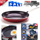 Blue Diamond Pan 12 As Seen On TV Toxin Free Ceramic Nonstick Safe Open Frypan