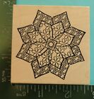 FLOWER BLOSSOM MANDALA Rubber Stamp by Outlines Rubber Stamps