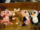 """TY Beanie Boos 6"""" Bean Plush Igloo Tender Hopson DAZZLE 4 PCS Justice Exclusive"""