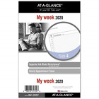 AT A GLANCE 2020 Weekly Planner Refill Day Runner 5 1 2 x 8 1 2 Desk Size