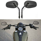 Black Mirrors For Harley Davidson Sportster XL883 XL1200 Dyna Softail Road King