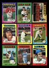 LOT OF 556 DIFFERENT 1975 TOPPS BASEBALL CARDS PARTIAL SET VG GMCARDS