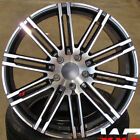 22 GUNMETAL MACHINE WHEELS FITS PORSCHE CAYENNE TOUAREG 22X10 RIMS SET 4 5X130