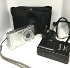 Panasonic LUMIX DMC-FS5 10MP Silver Digital Camera,Charger,Cased,No Battery,++++