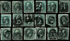 VARIETY COLLECTION 19TH CENTURY BANKNOTES ALPHA NUMERIC FANCY CANCELS EN29