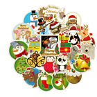 50pcs Christmas Stickers Bomb Vinyl Skateboard Guitar Luggage Pack Logo Decals