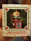 1987 Hallmark Baby's Second Christmas Ornament Clown Jack- in- the- Box NIB NEW