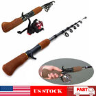 Carbon Fiber Telescopic Fishing Rod Sea Rock Travel Spinning Pole Portable US