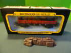 HO Bachmann Gondola Stake Car Old Time with freight accessory added ACW
