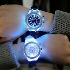 Shining White LED Light Wriswatch Flash For Woman Men Black 7 MultiColor Watches