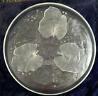 Exquisite Verlys Art Deco Satin Frosted Glass Water Lilies Center Bowl Signed