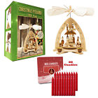 German Christmas Carousel Pyramid windmill Nativity 9in Decoration 20 Candles