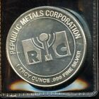 Republic Metals Corporation One Troy Ounce999 Fine Silver Round BW791