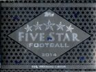 2014 TOPPS FIVE STAR FOOTBALL HOBBY 4 BOX CASE