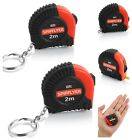 Retractable Measuring Tape Mini Spifllyer 2 Pack Small Key Chain Metric and Inch