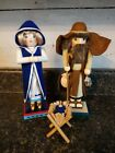 Nutcracker Village Old World Nativity 2001 Mary Joseph Baby Jesus Holy Family NC