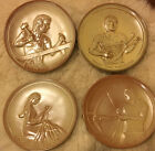 "LOT OF 4 FRANKOMA TEENAGERS OF THE BIBLE SERIES COLLECTOR PLATES 7"" 1-4"