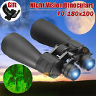 180x100 Zoom Telescope HD Optical Lens Wide Angle Binoculars Day Night Vision