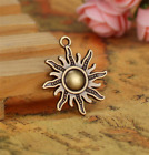 Wholesale 4pcs Tibet silver Sun Necklace Charm Pendant beads Jewelry Making DIY