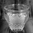 Wexford Ice Bucket Without Lid Clear Glass Vintage Anchor Hocking