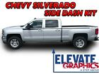 Chevy Silverado Side Dash Stripes Vinyl Graphics 3m Decals Stickers 2014-2018
