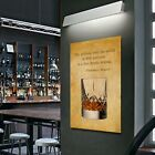 OLD WHISKY GLASS Collection Quote Canvas Gift Poster Bar Home Wall Art Decor