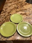 Set Of 3 Vintage Fiesta Chartreuse 9.5