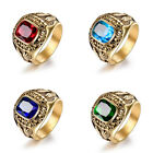 HIGH SCHOOL Men's Gold Ring Engraved Student Boy's Thumb Band Graduation Jewelry