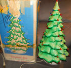 Vintage Union Products Blow Mold 21 Christmas Tree 59 Bulb Original Box 2854