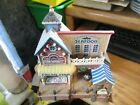Lemax Plymouth Fish Market Fisherman's Grotto Seafood Village House NO Light/Box