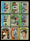LOT OF 350 DIFFERENT 1972 TOPPS BASEBALL PARTIAL SET EX EXMINT GMCARDS