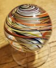 STEVE DAVIS HANDMADE GLASS MARBLE 1452 WHIRLING MULTI COLORED TORNADO
