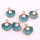 10pcs Enamel Charms Beads Shell Charm Pendant For DIY Craft Jewelry Making 22991