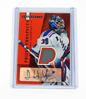 2005-06 Hot Prospects Henrik Lundqvist Rookie Red Hot Jersey Auto 50
