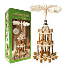 German Christmas Pyramid Wood Nativity Scene 21in Christmas Decoration Open Box