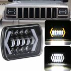 55W 5x7 7x6 LED Headlight DRL Hi Lo Beam for Jeep Wrangler YJ Cherokee XJ