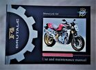 MV AGUSTA F4 BRUTALE 750- ORO-S MODELS  FACTORY OWNERS MANUAL / - SCARCE ENGLISH